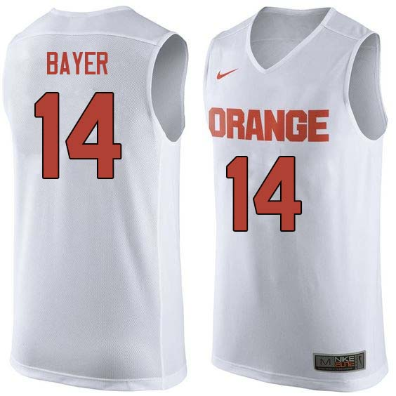 Men #14 Braedon Bayer Syracuse White College Basketball Jerseys Sale-White