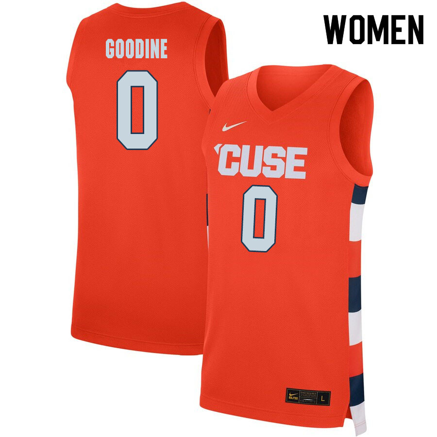 2020 Women #0 Brycen Goodine Syracuse Orange College Basketball Jerseys Sale-Orange
