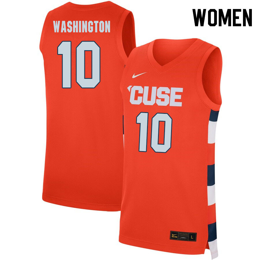 2020 Women #10 Howard Washington Syracuse Orange College Basketball Jerseys Sale-Orange