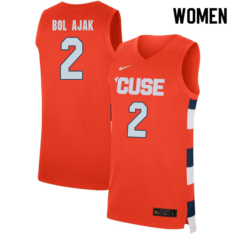 2020 Women #2 John Bol Ajak Syracuse Orange College Basketball Jerseys Sale-Orange