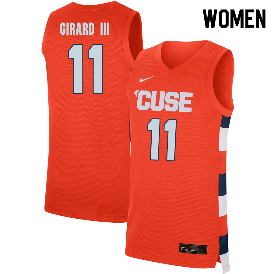2020 Women #11 Joseph Girard III Syracuse Orange College Basketball Jerseys Sale-Orange