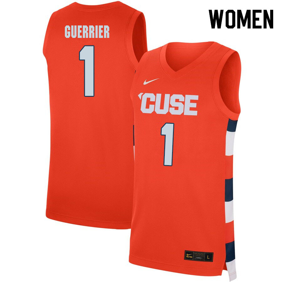 2020 Women #1 Quincy Guerrier Syracuse Orange College Basketball Jerseys Sale-Orange